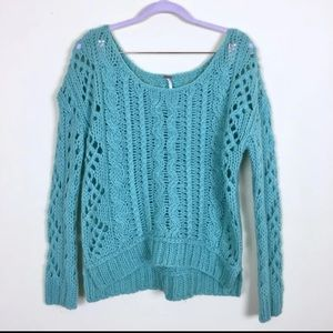 Free People Open Knit Sweater Size Small